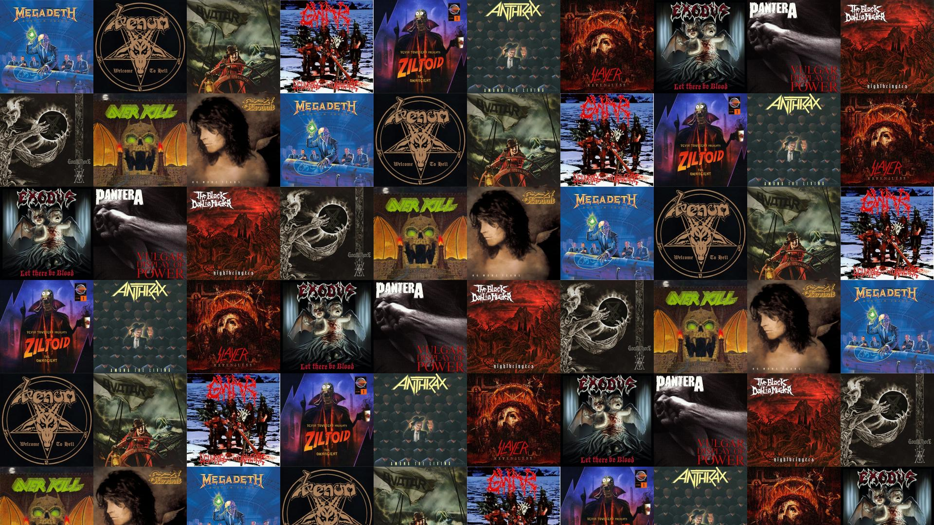 Megadeth Rust In Peace Venom Welcome To Hell Wallpaper
