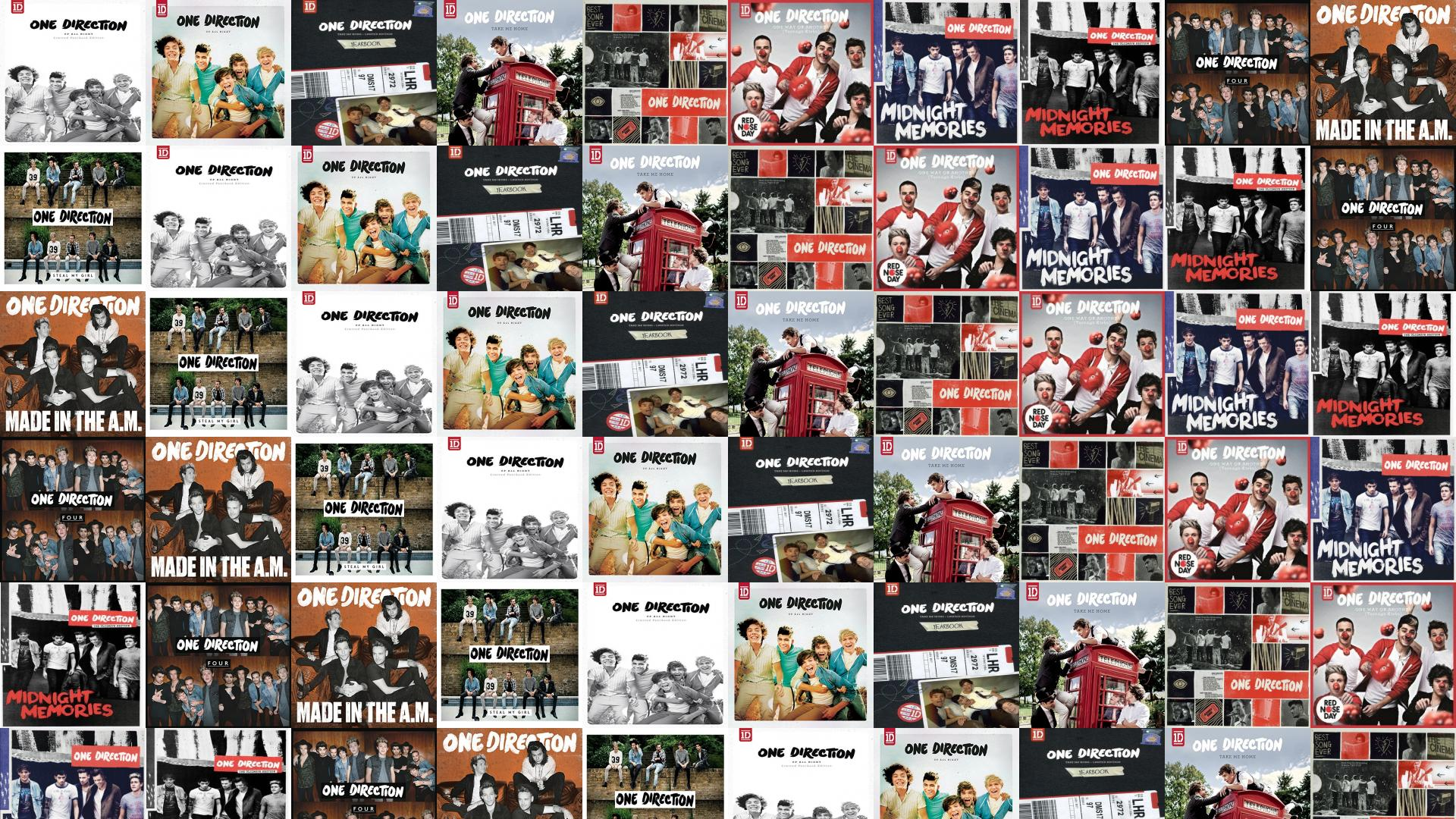 One Direction Up All Night Yearbook Up All Wallpaper « Tiled