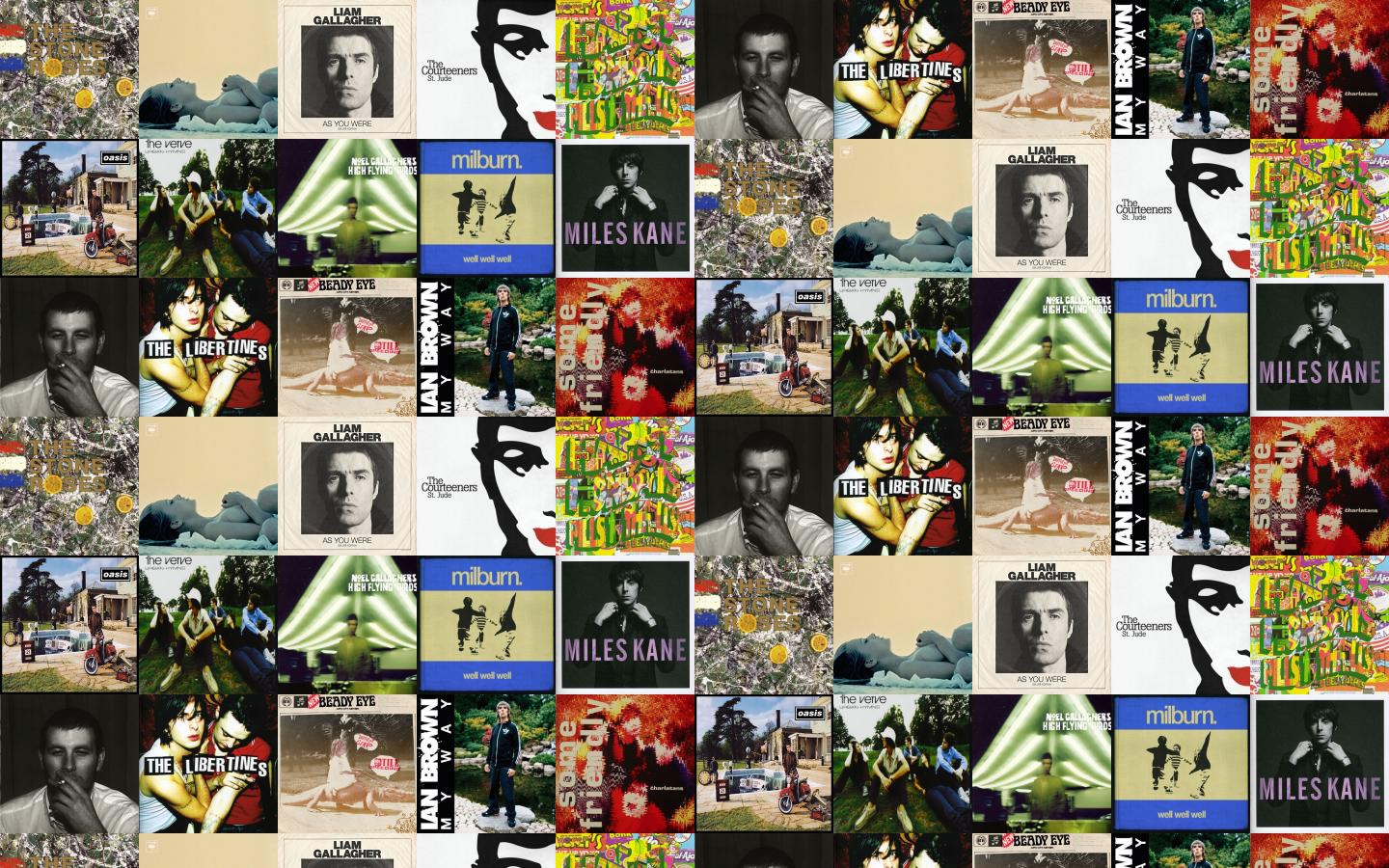 Stone Roses Stone Roses Beady Eye Liam Gallagher Wallpaper Tiled