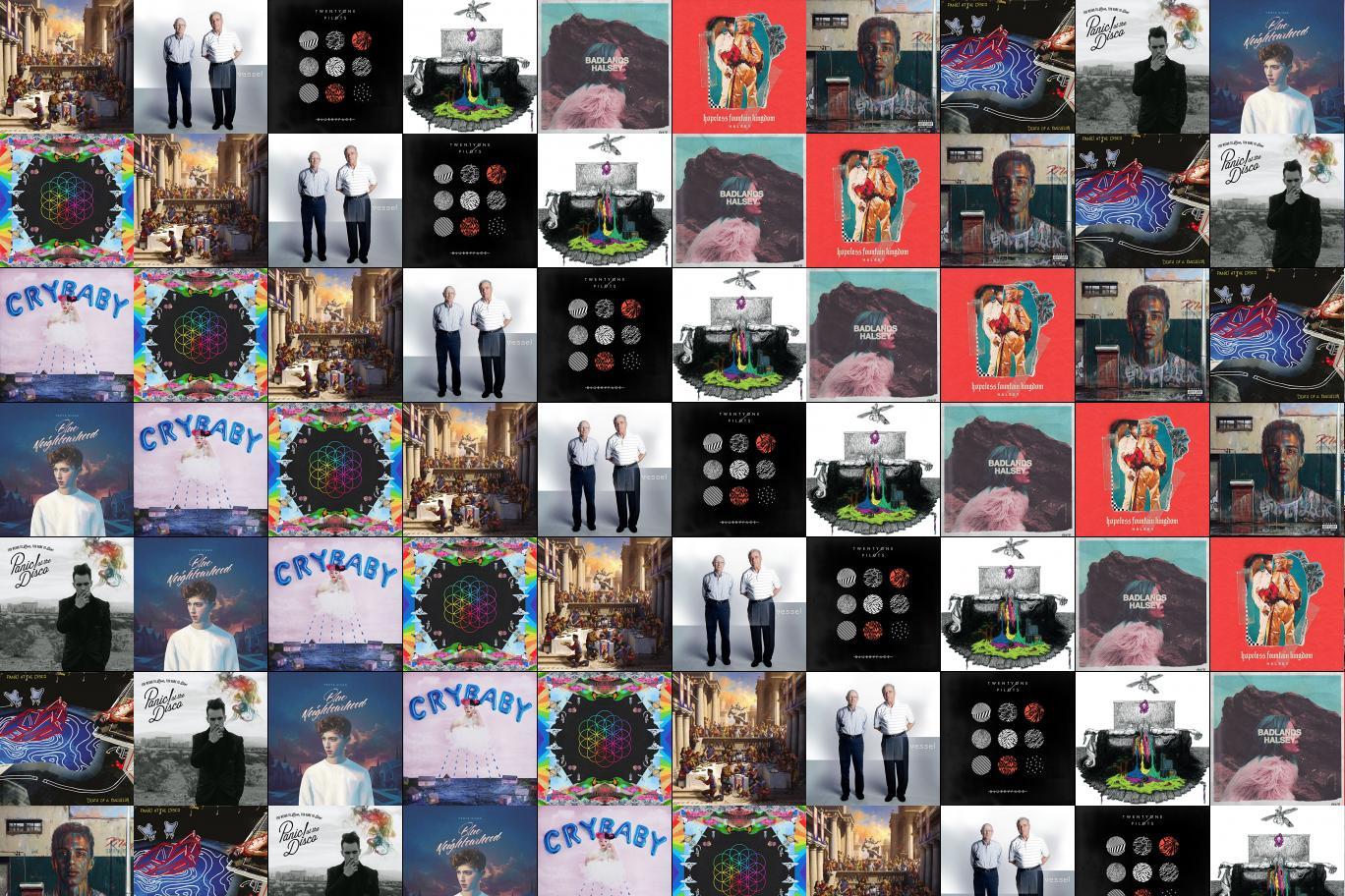 Troye Sivan Tiled Desktop Wallpaper