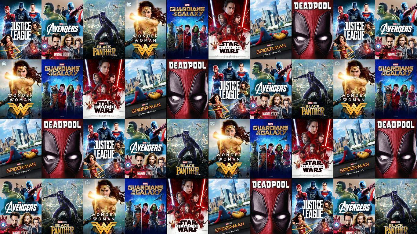 Justice League Tiled Desktop Wallpaper