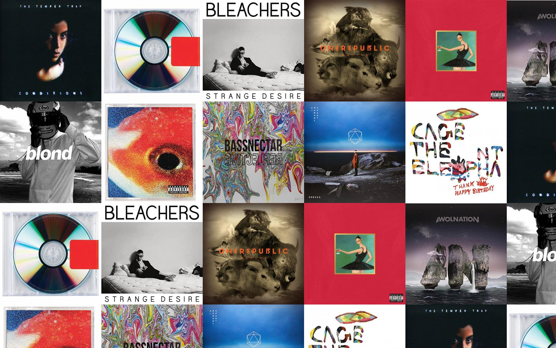 Download This Free Wallpaper With Images Of Temper Trap Conditions Kanye West Yeezus Bleachers Strange Desires Onerepublic Native