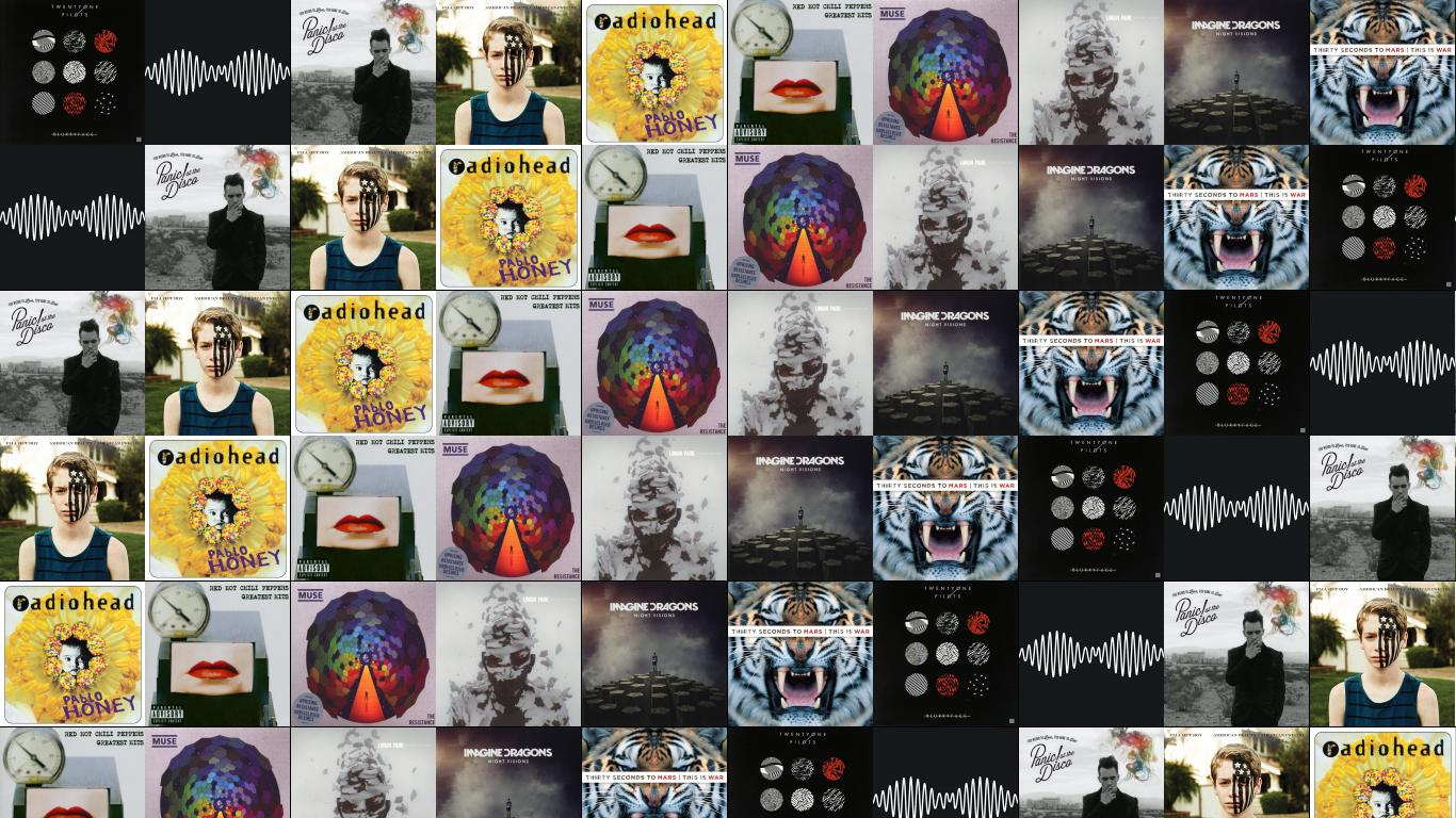 Wallpaper With Images Of Twenty One Pilots Blurryface Arctic Monkeys Am Panic At The Disco Too