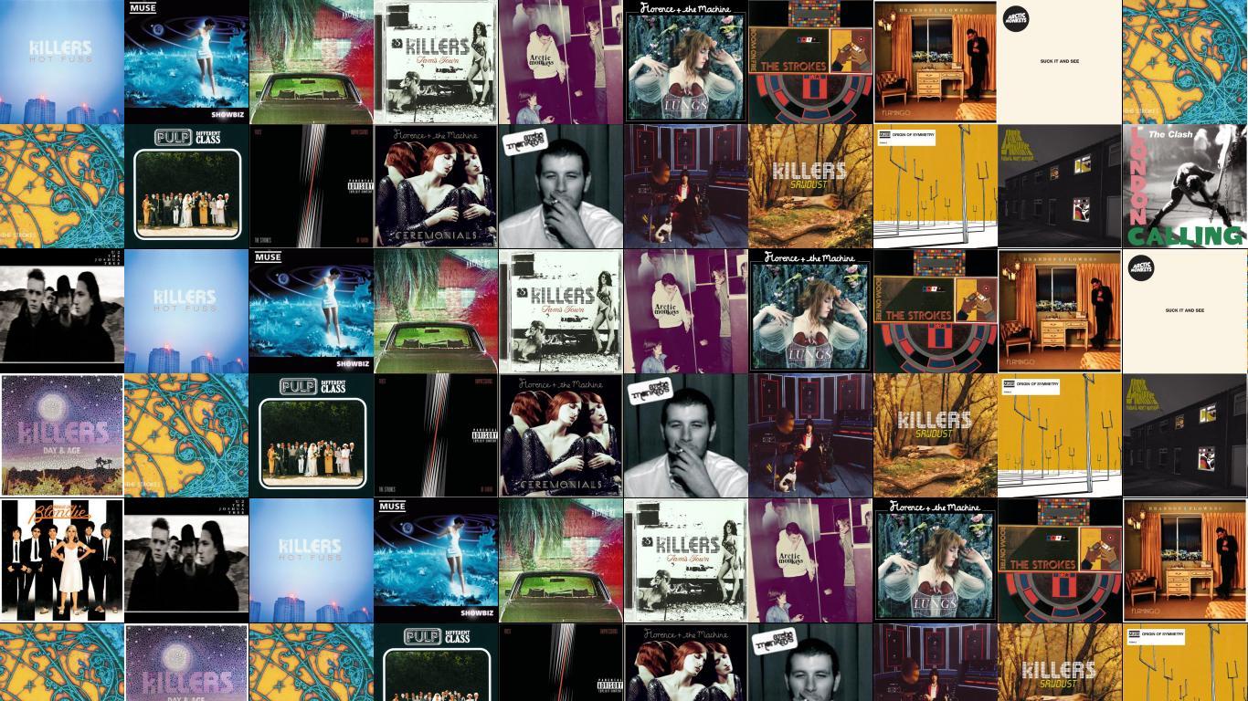 Julian Casablancas Tiled Desktop Wallpaper