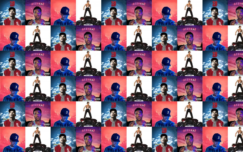Chance Rapper 10 Day Acid Rap Colouring Wallpaper Tiled Desktop