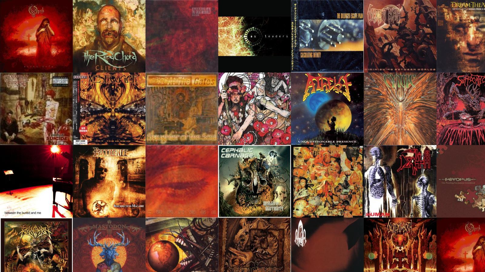 Meshuggah Tiled Desktop Wallpaper