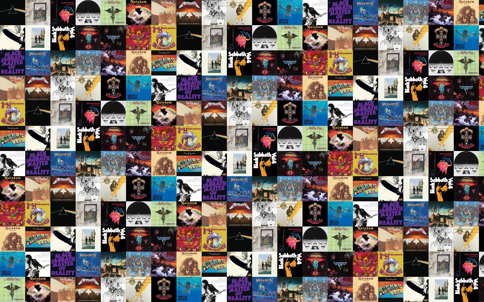 Pink Floyd Dark Side Moon Led Zeppelin Led Wallpaper Tiled
