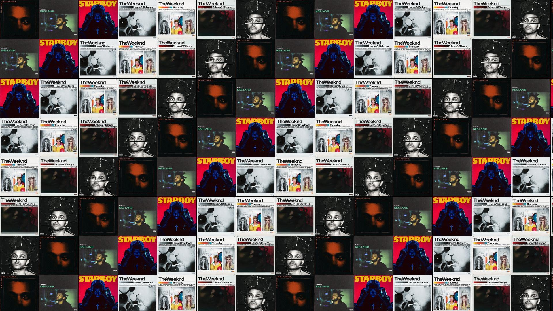 The Weeknd Tiled Desktop Wallpaper