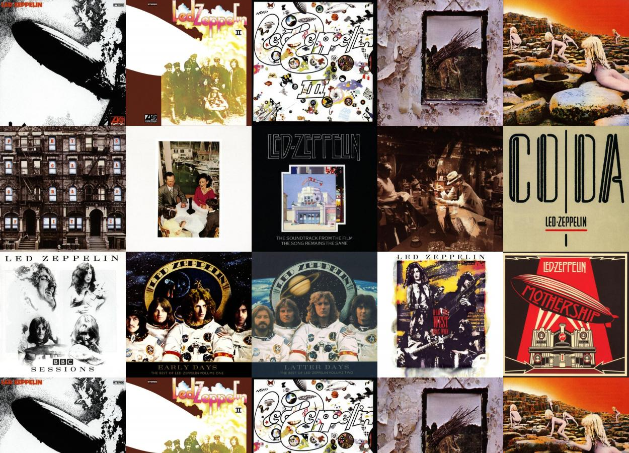 Led Zeppelin I Led Zeppelin Ii Iii Wallpaper 171 Tiled Desktop Wallpaper