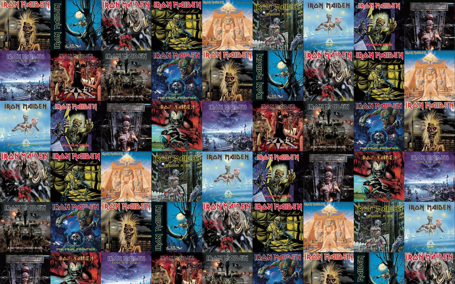 Iron Maiden Killers Fear Dark Number Beast Piece Wallpaper Tiled