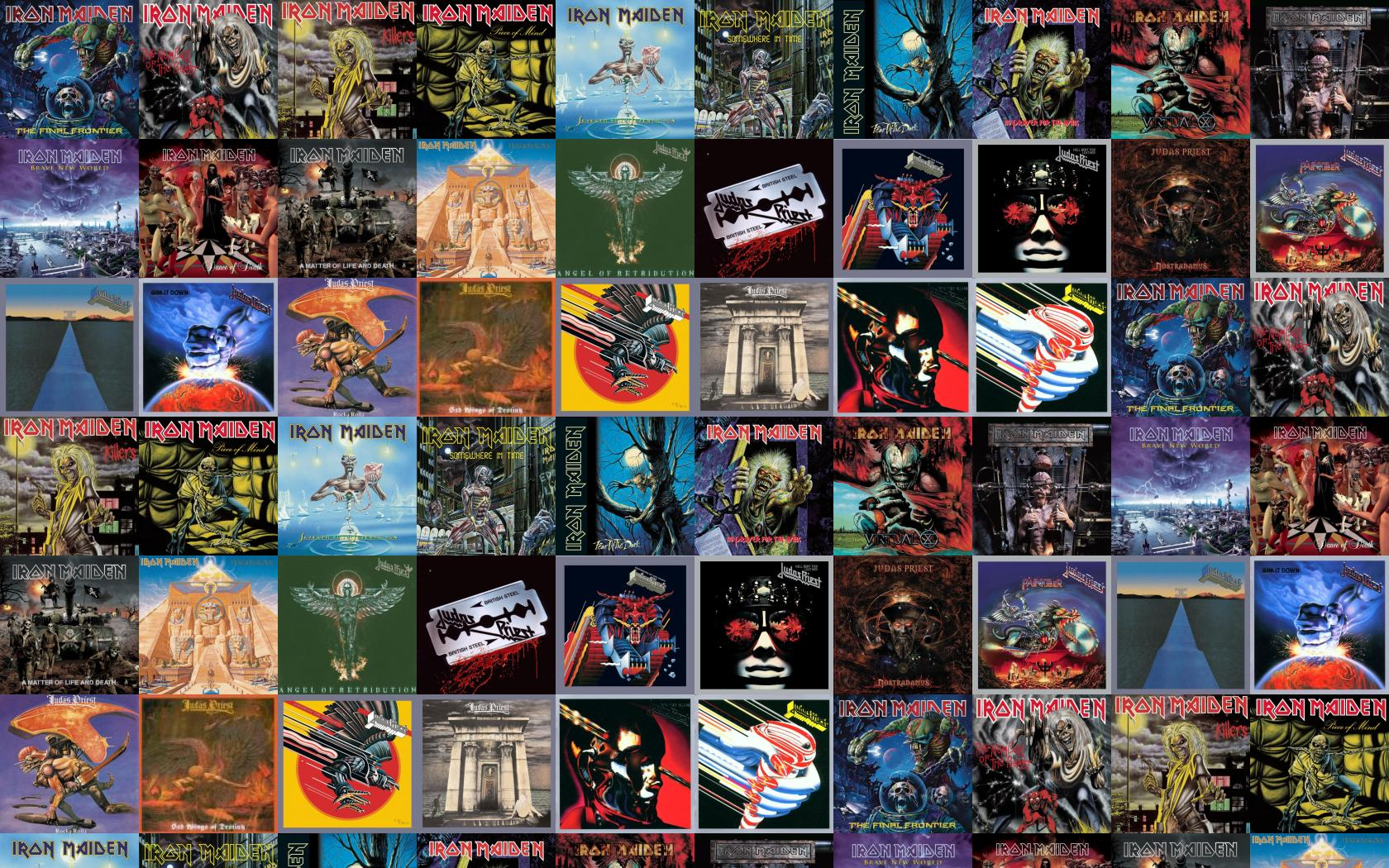 Iron Maiden Iron Maiden The Number Of The Wallpaper Tiled