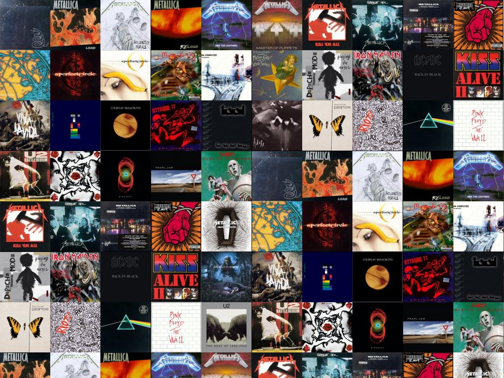 Metallica Black Album Load And Justice For All Wallpaper Tiled