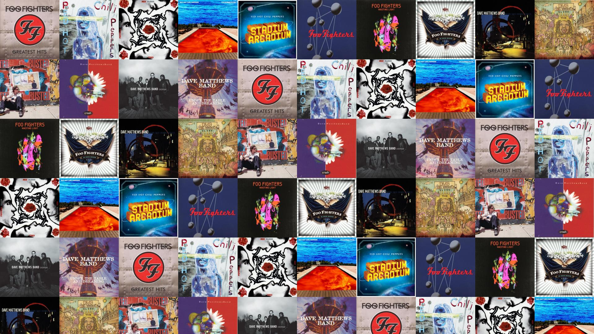 Foo Fighters Greatest Hits Red Hot Chilli Peppers Wallpaper