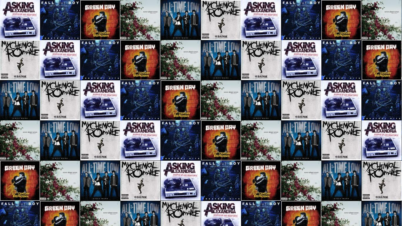 Asking Alexandria Stand Up Scream Fall Out Boy Wallpaper Tiled