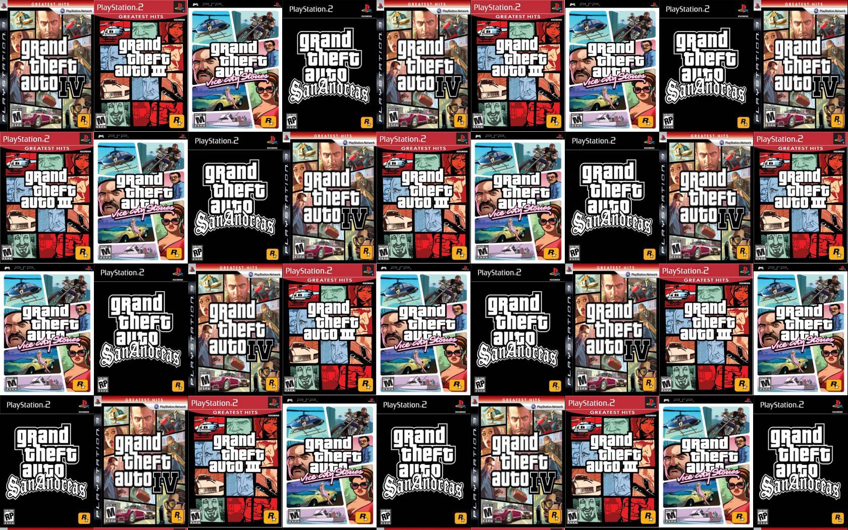 Grand Theft Auto Vice City Tiled Desktop Wallpaper