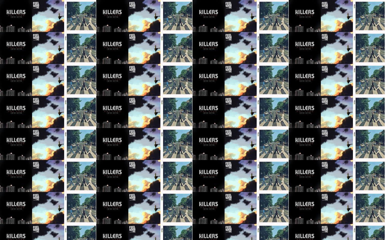 Killers Hot Fuss Gorillaz Feel Good Inc Beatles Wallpaper Tiled