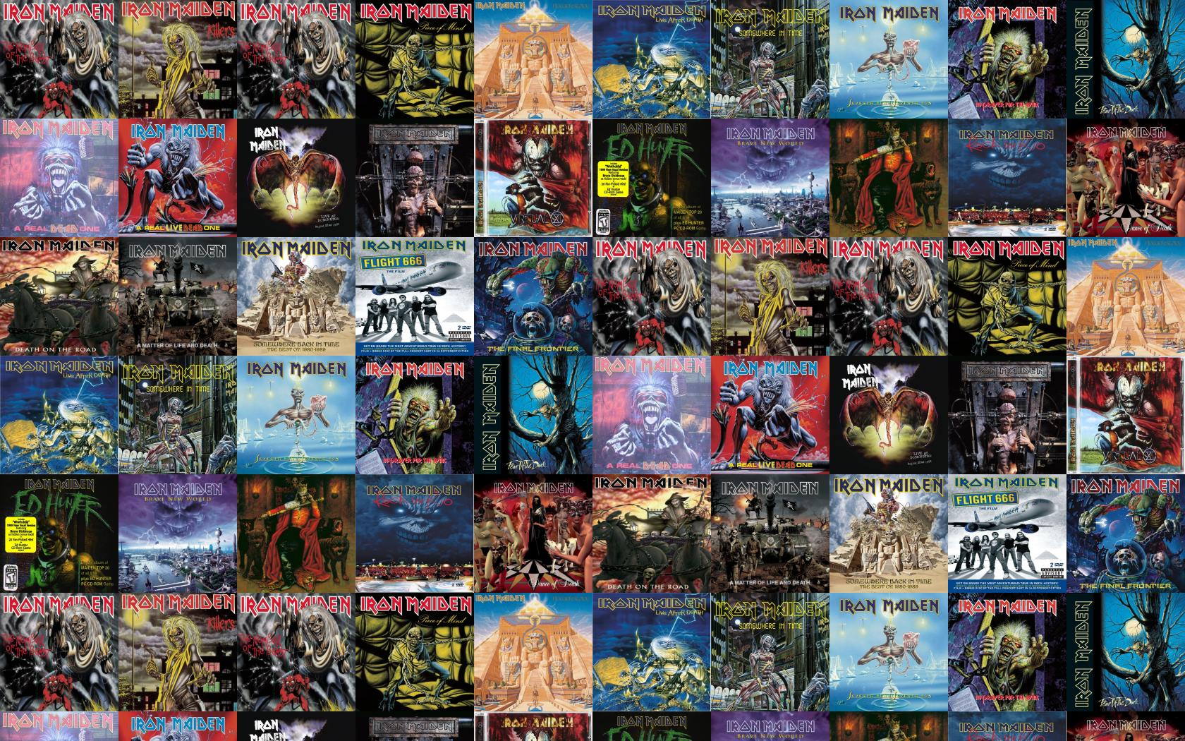 Iron Maiden Iron Maiden Killers The Number Of Wallpaper Tiled