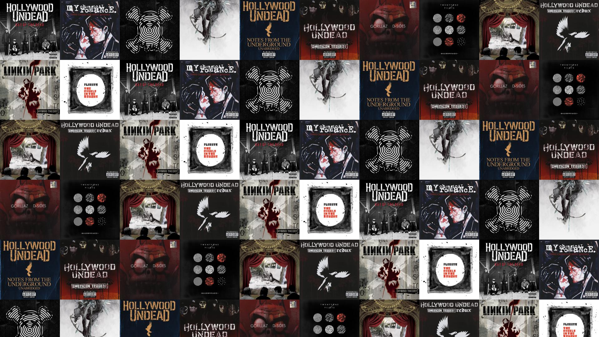 Hollywood Undead Day Dead My Chemical Romance Three Wallpaper