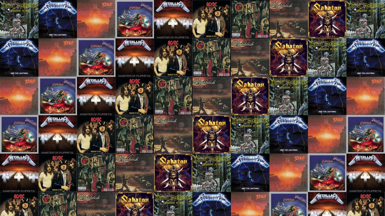 Iron Maiden Somewhere In Time Metallica Ride Wallpaper Tiled