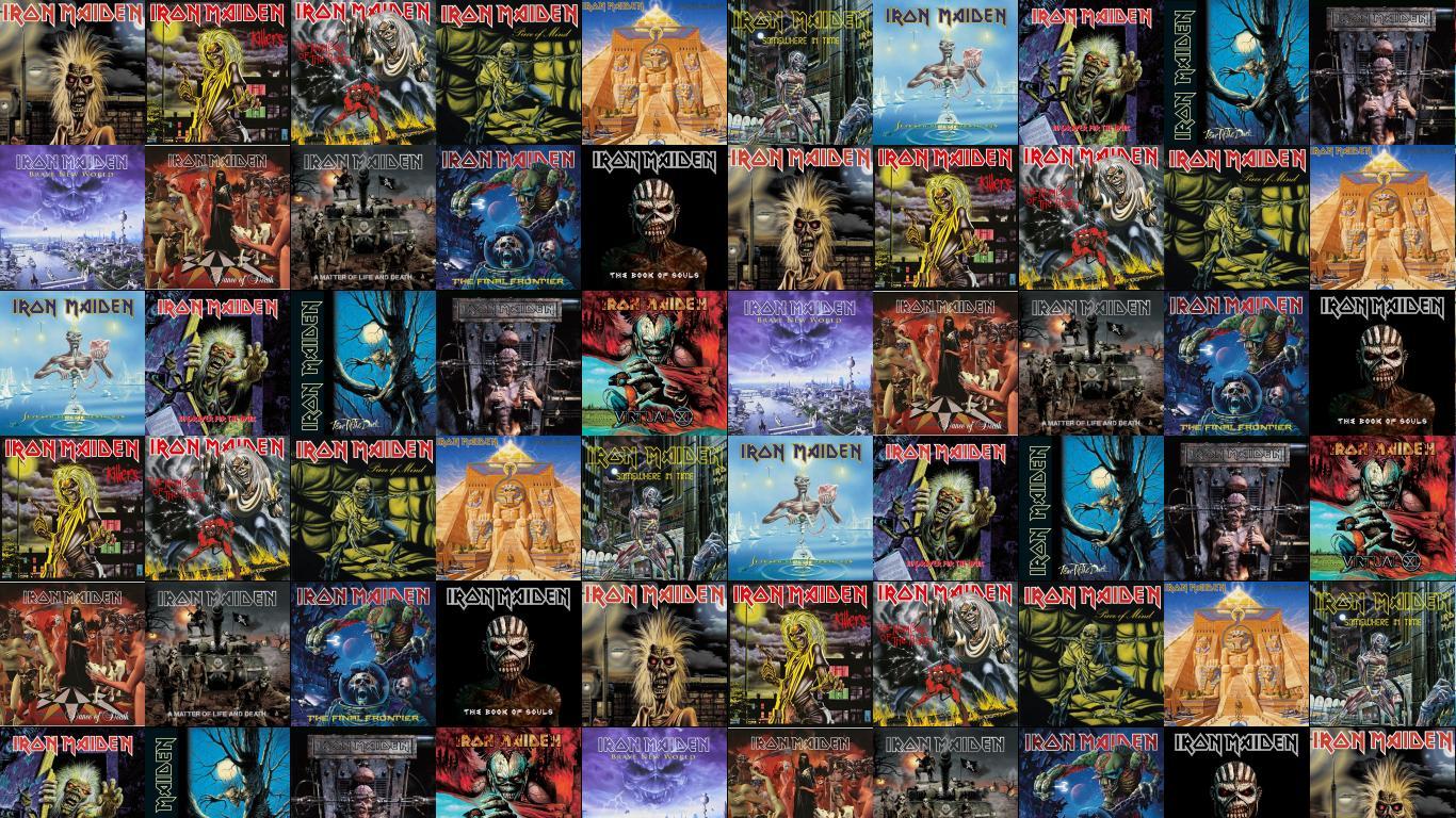 Iron Maiden Iron Maiden Killers The Number Beast Wallpaper Tiled