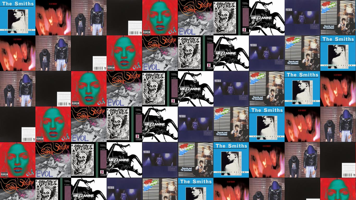 Siouxsie And The Banshees Tiled Desktop Wallpaper