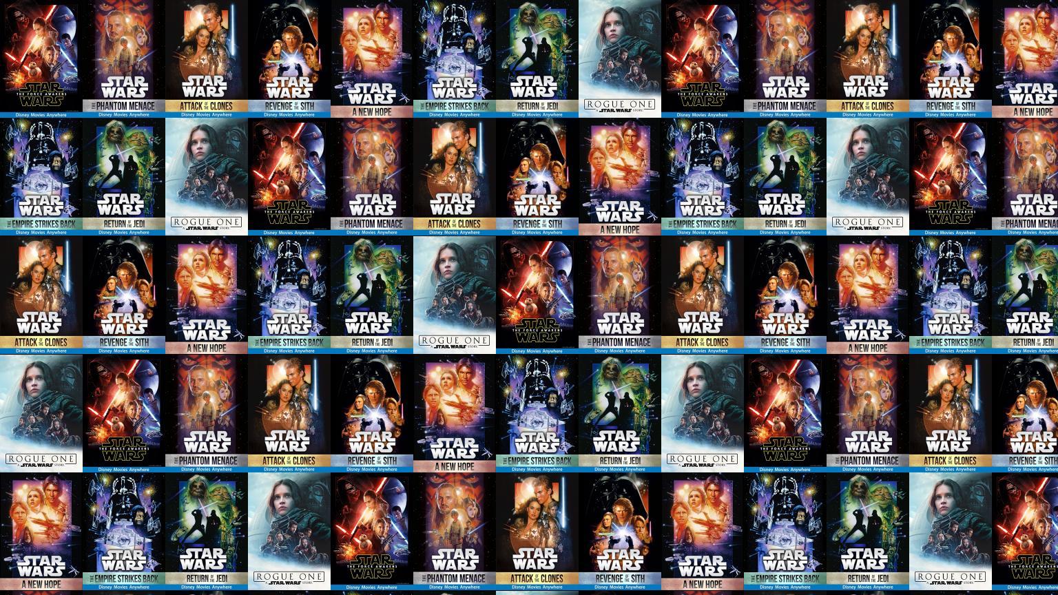 Star Wars Episode Iii Tiled Desktop Wallpaper