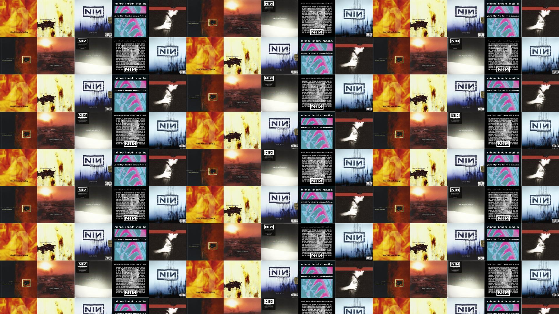Nine Inch Nails Downward Spiral With Teeth Wallpaper Tiled