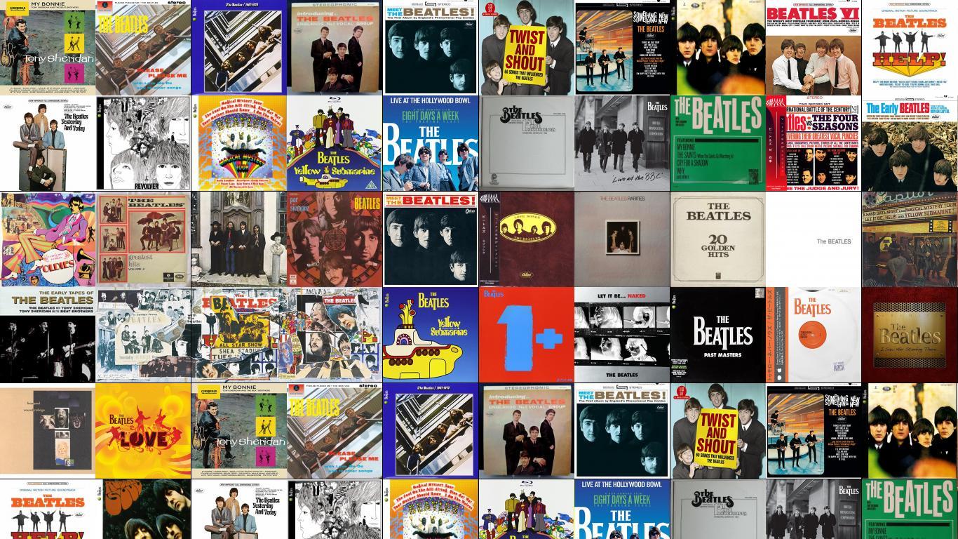 Yellow Submarine Songtrack Tiled Desktop Wallpaper