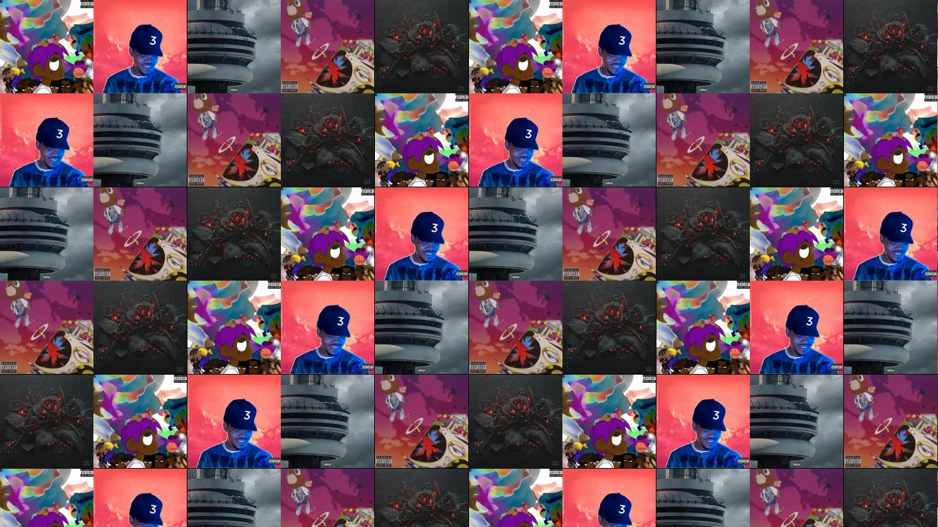 Lil Uzi Vert Chance Rapper Coloring Book Wallpaper Tiled Desktop
