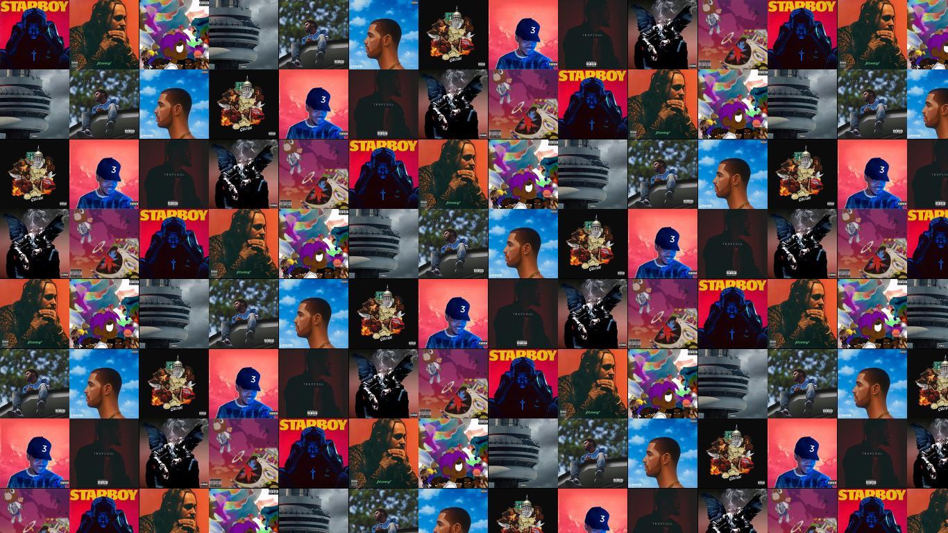 Weeknd Starboy Post Malone Stoney Lil Uzi Vert Wallpaper Tiled