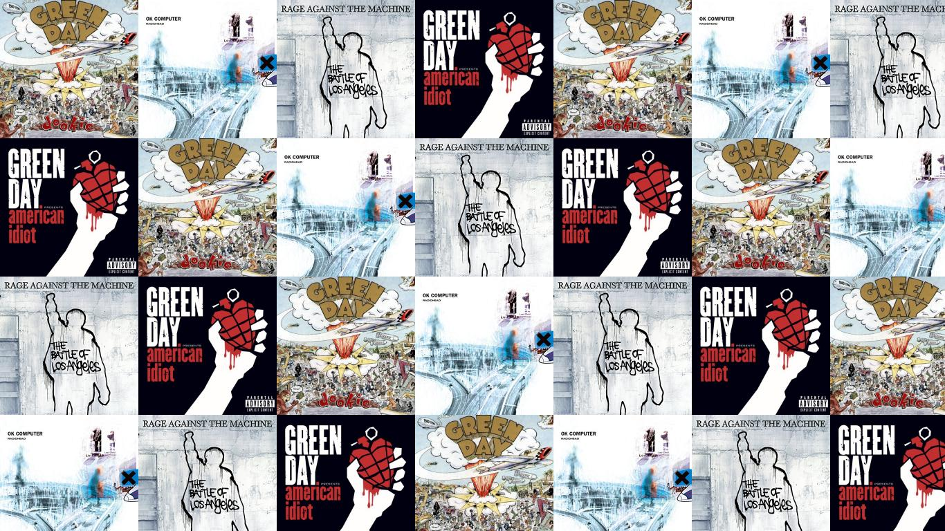 Green Day Dookie Radiohead Ok Computer Rage Against Wallpaper